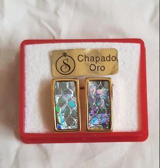 pendientes chapados oro
