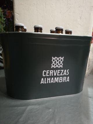Cubitera Nevera Metálica Cerveza Alhambra Nueva