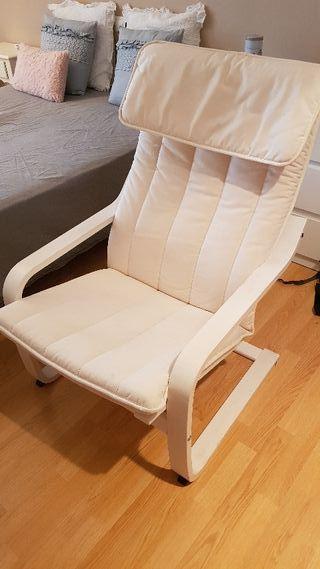 silla mecedora ikea color beige