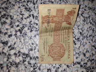 vendo billete antiguo año 1937