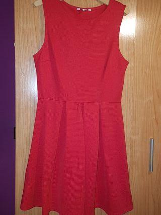 Vestido rojo tablas