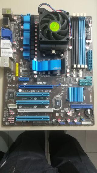 placa base Asus M4A785TD V EVD +disipador AMD