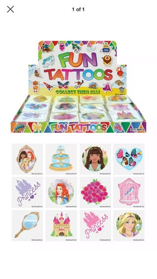 72 pack of kids tattoos