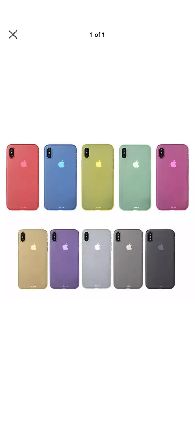 Ultra Thin TPU Back Cover Case for iPhone X/Xs