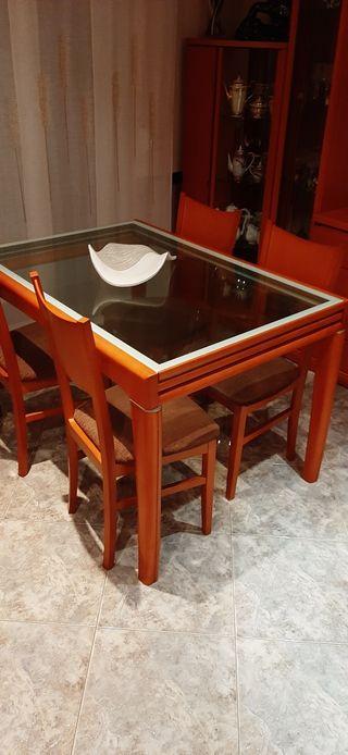 mesa de salón comedor cristal