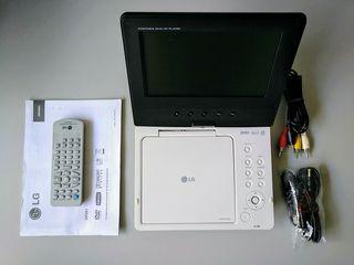 Reproductor DVD portátil LG con batería y mochila
