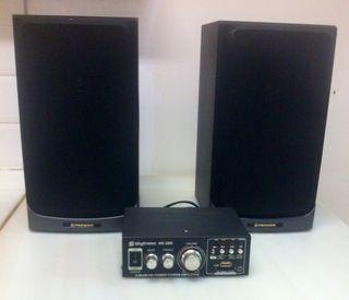 Mini amplificador con altavoces
