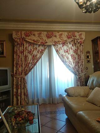 cortinas confeccionada con galería