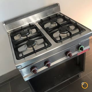 Cocina industrial a gas 4 fuegos para hostelería