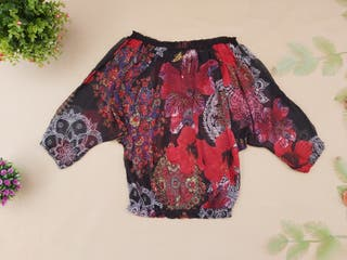 Desigual blusa de seda Talla S