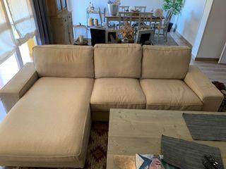 Sofa kivik chaiselongue con funda beige