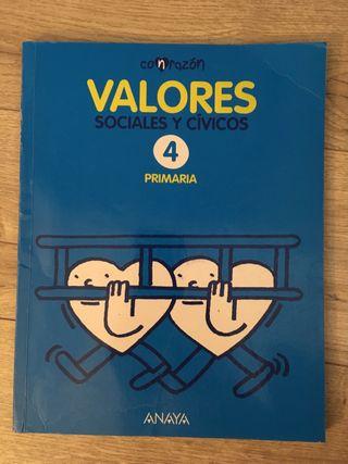 Valores Sociales y Cívicos 4 Primaria Anaya