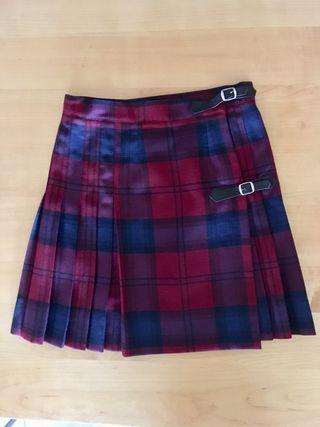 Falda escolar tablas