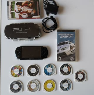 Sony PSP 3000 (USA) + 9 juegos + estuche + 2 pelis