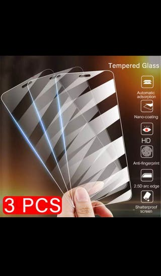 3 piezas protector de pantalla / tempered glass