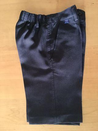 Pantalón corto escolar gris talla 8