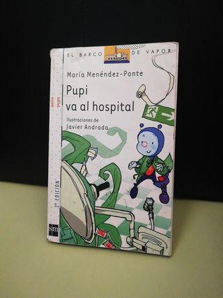 libro Pupi va al hospital, barco de vapor