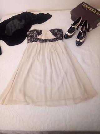 vestido ceremonia, boda o fiesta con zapatos
