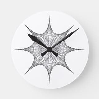 8 point star wall clock