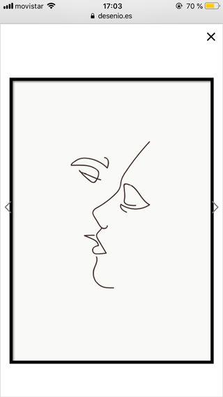 Cuadro/ póster beso