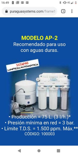 ósmosis Pur Agua System