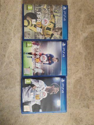 PS4 fifas 16,17 y 18 como nuevos