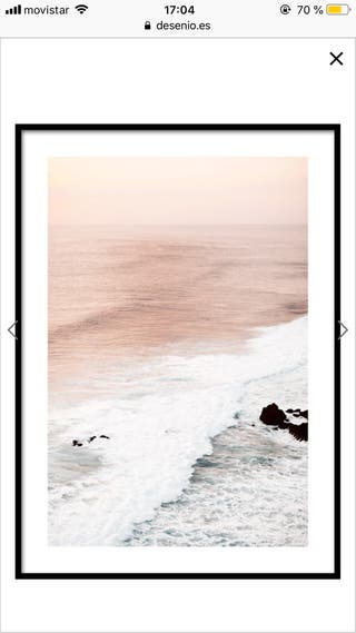 Cuadro/póster playa rosa