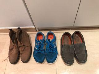 Bambas, botas y mocasines