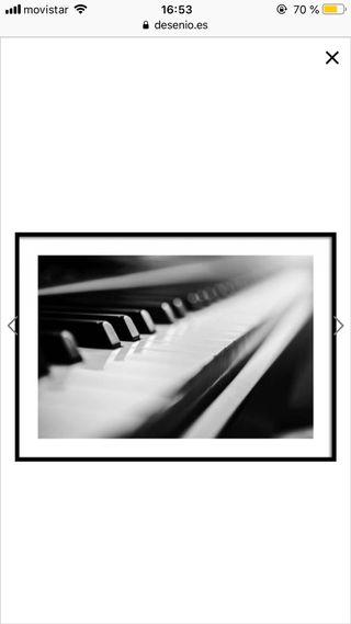 Cuadro/ póster piano