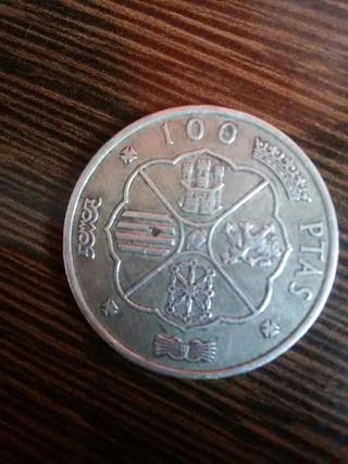 moneda de plata de 100 pesetas