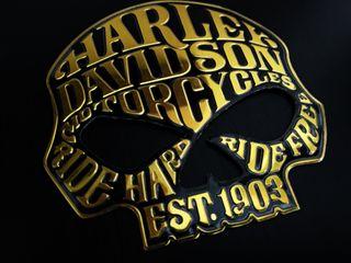 EMBLEMA LOGO HARLEY DAVIDSON MOD EST 1903 GOLD