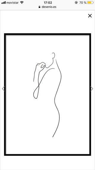 Cuadro/ póster silueta mujer