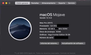 Estacion de trabajo / Diseño I-Mac Pro 6core