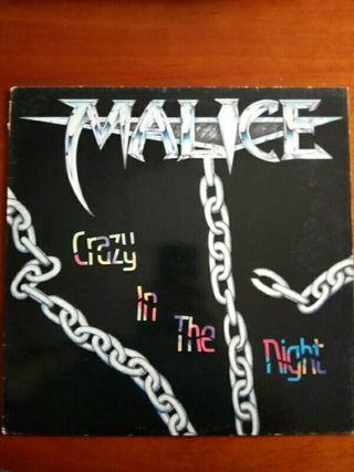 Malice - Crazy in The Night - Disco vinilo
