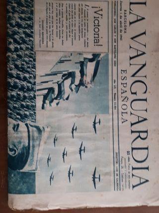 ANTIGUO PERIÓDICO LA VANGUARDIA AÑO 1943