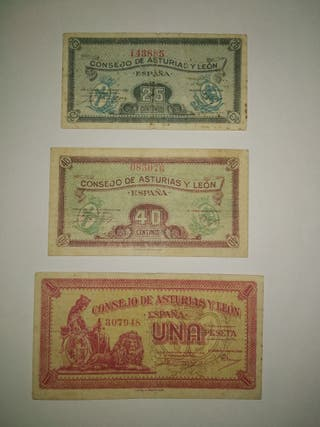 Lote billetes Asturias y León