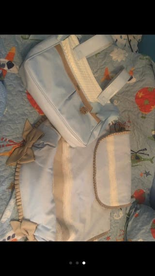 bolso de bebe y funda de bebe