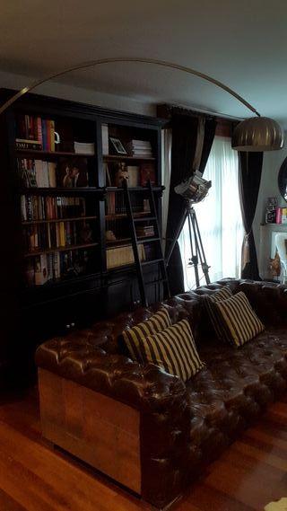 Libreria madera lacado negro