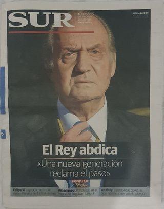 Periódico Diario Sur abdicación del Rey