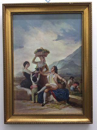 """Cuadro """" La Vendimia"""" Goya"""
