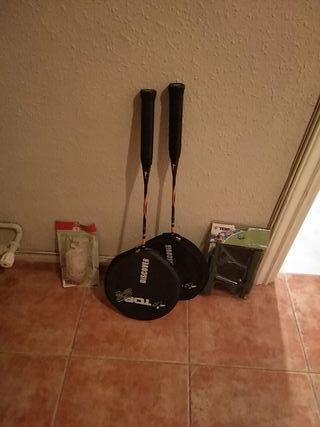 Kit de Bádminton: 2 raquetas, red nueva y plumas