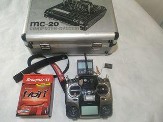 emisora Graupner MX20 + receptor + telemetría
