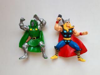 Figuras Doctor muerte y Thor