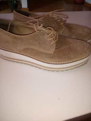 zapatos serraje piel