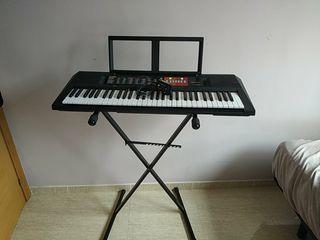 Piano eléctrico (psr-F51)+Soporte+Fuente de poder