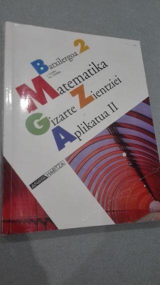 Libro de matemáticas 2 bachillerato en euskera