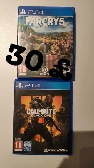call of duty black ops 4 and far cry 5