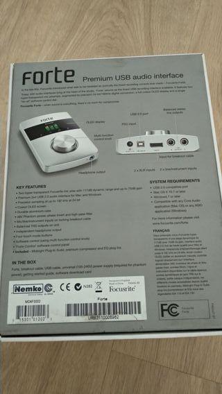 Focusrite Forte - Interfaz de audio tarjeta sonido