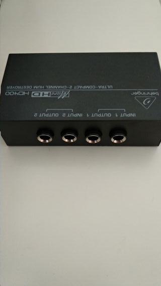 2 x Behringer HD400 (filtros de ruido)