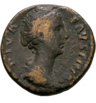 moneda romana de Faustina As de bronce